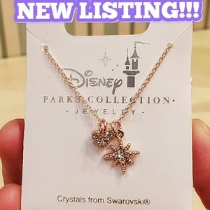 DISNEY MICKEY ICON SNOWFLAKE SWAROVSKI NECKLACE